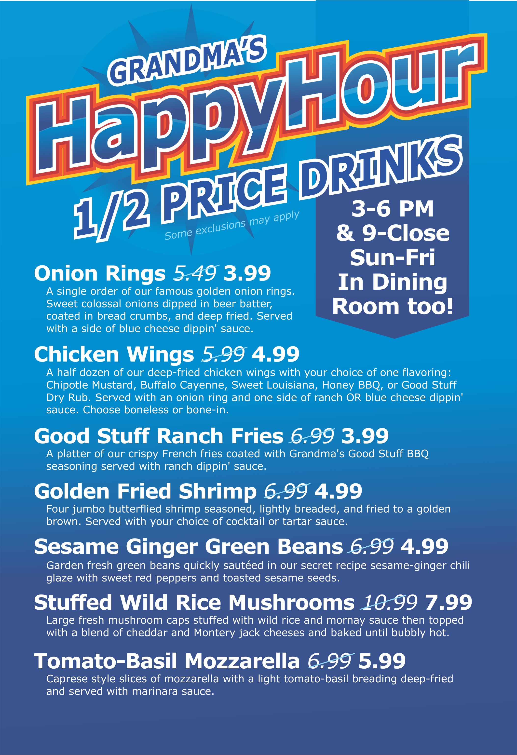 Grandma's Saloon & Grill Happy Hours | Grandma's Saloon and